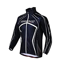 NEW-MYSENLAN Mens Fall and Winter Style Windproof Cycling Jacket , Black , M by ELCE Stock