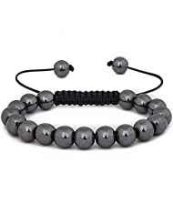 Ladies Shamballa friendship bracelet Genuine Hematite theraputic healing properties (Hematite often referred to...