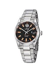 Kadloo Millenium Men's Black Dial Stainless Steel Watch 80451-BK