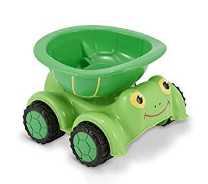 Melissa & Doug Sunny Patch Tootle Turtle Dump Truck