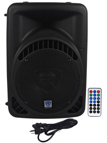 "Rockville Rpg10Bt 10"" 600 Watt Active/Powered Dj/Pa Speaker With Built In Bluetooth, Usb/Sd Player - Wireless Remote Control Included"