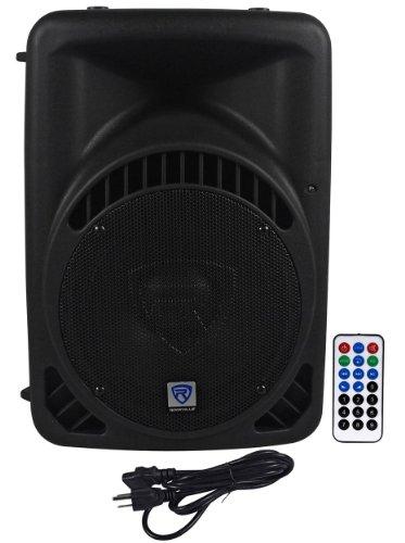 rockville rpg10bt 10 600 watt active powered dj pa speaker with built in bluetooth usb sd. Black Bedroom Furniture Sets. Home Design Ideas