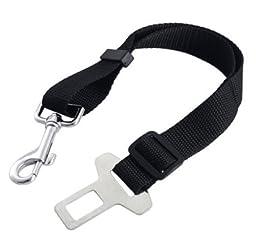 Change Cat Dog Pet Safety Seatbelt for Car Vehicle Seat Belt Adjustable Harness (Black)
