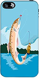 Snoogg Trout Fish Retro Designer Case Cover For Apple Iphone 5 / 5S