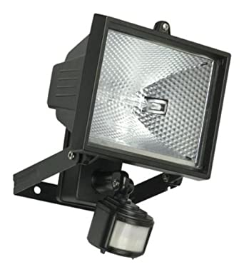 400w garden halogen floodlight security light with motion. Black Bedroom Furniture Sets. Home Design Ideas