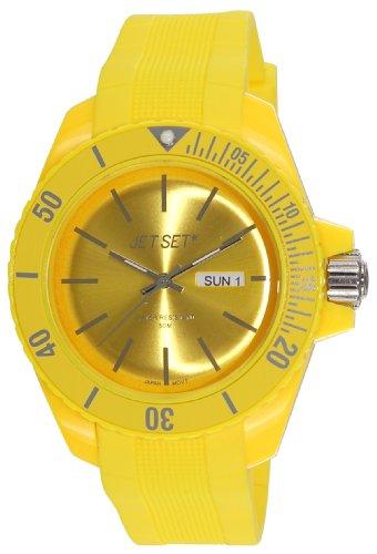 Jet Set J83491-19 - Reloj analógico de cuarzo unisex con correa de caucho, color amarillo