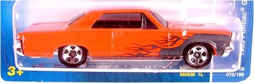 2008 Hot Wheels 2008 All Stars #70 Orange 1965 Pontiac GTO on Beckett Price Guide Card - 1