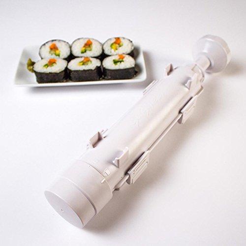 HENGSONG Sushi Bazooka Appareil à Sushis et Makis à Piston Outil à Sushi 29*7*7cm
