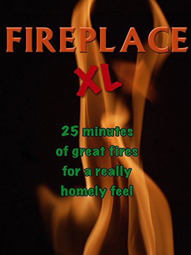 Fire Video-Fireplace XL -Extra Long Open Hearth Fires with Burning Wood Sounds