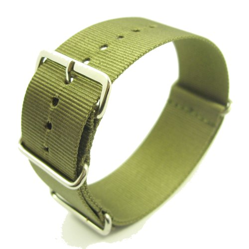 Zeitpunkt-Nylon Watchband green 22 mm