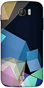 Snoogg Polygon Abstract 2543 Designer Protective Back Case Cover For Micromax A110