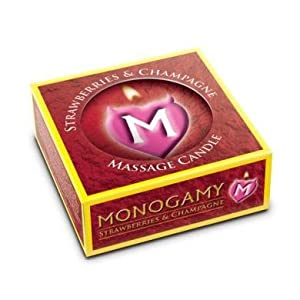 Gift Set Of Monogamy Massage Candle Strawberry And a Tube if Anal-Ese