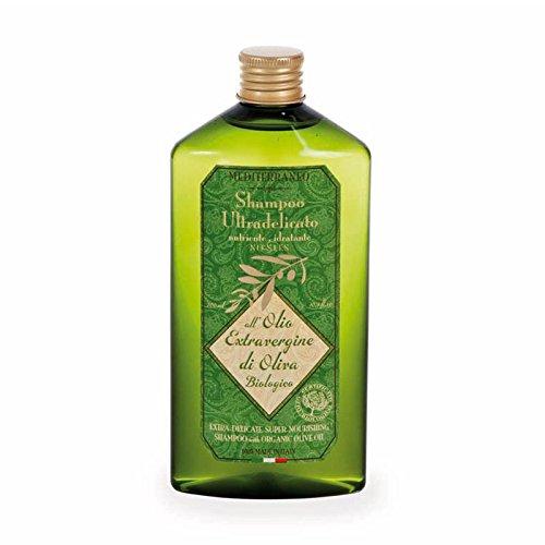 Mediterraneo Shampoo Ultradelicato Nutriente Naturale all'Olio Extra Vergine di Oliva Biologico 300 ml