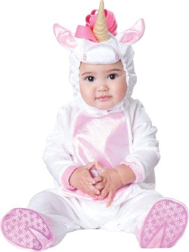 InCharacter Costumes Baby Girls' Magical Unicorn Costume, White/Pink, Medium