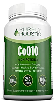 CoQ10 240 SoftGels ? 100% MONEY BACK GUARANTEE ? High Absorption Coenzyme Q10 Supporting Healthy Heart & Cardiovascular System - Made in the USA to GMP Standards - Up To 8 Months Co Q 10 Supply
