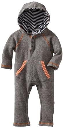 Splendid Littles Baby-boys Infant Colorblock Stripe Active Playsuit, Navy/Carrot, 18-24 Months
