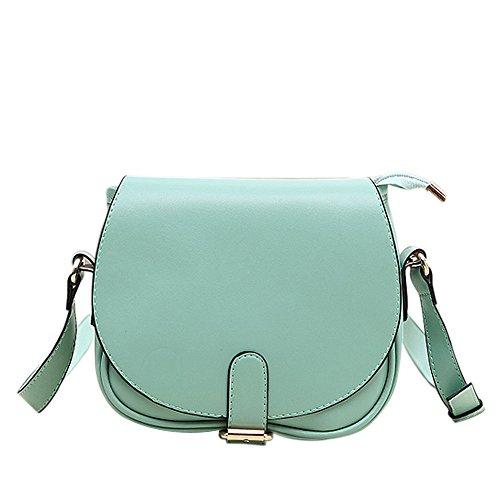 Longra Nuova spalla delle donne in pelle pochette borsetta (Verde)
