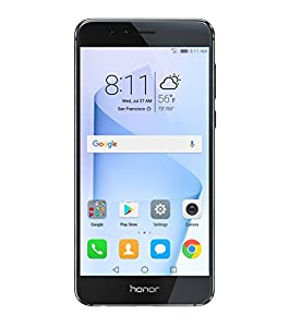 Honor 8 Unlocked Phone 32GB, Midnight Black- GSM- (US Warranty)