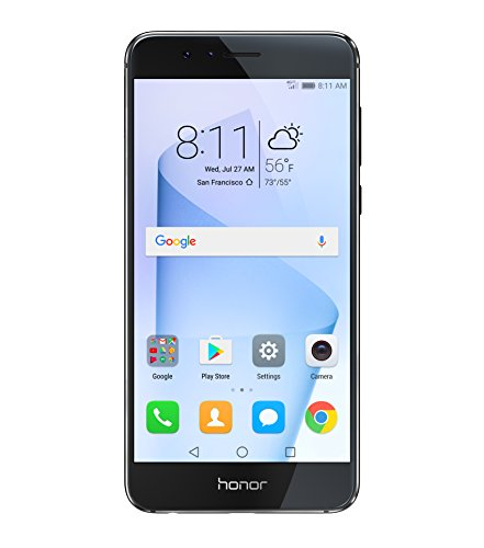 Honor 8 Dual Camera Unlocked Phone 32GB - Midnight Black - GSM - US Warranty (Huawei Mobile compare prices)