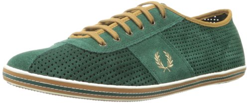 764dbdf2f3140b Fred Perry Men s Hayes Unlined Suede Fashion Sneaker Tartan Green 9 5 UK 10  5