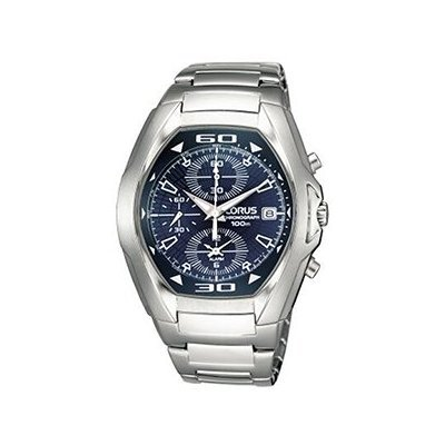 Lorus Mens Chronograph Stainless Steel Watch Date Alarm Split Time
