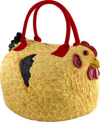 Rubber Chicken Hen Tote Bag Handbag Purse Pocketbook &quot;Henbag&quot;