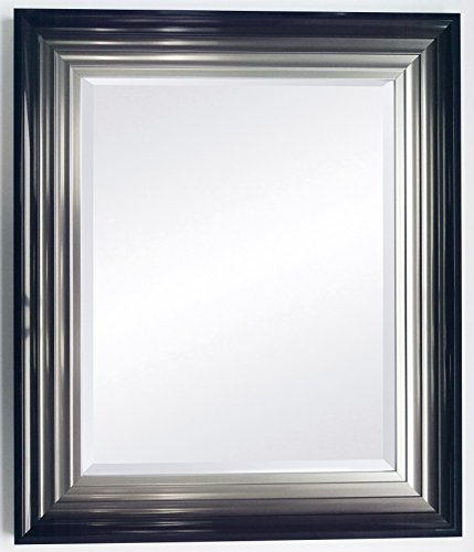 large-firenza-black-and-silver-mirror-with-3mm-plain-mirror