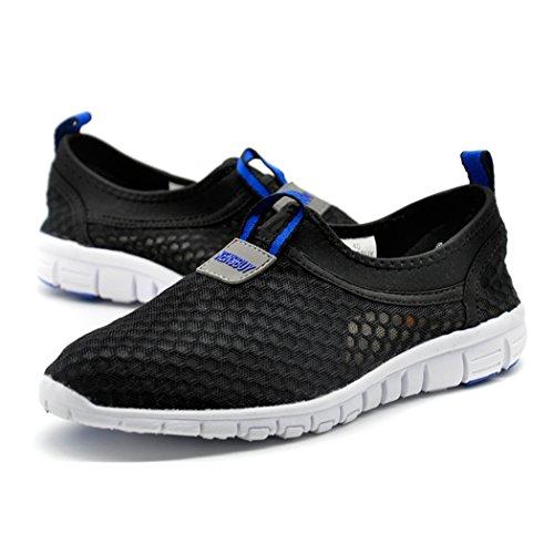Men & Women Breathable Running Shoes,beach Aqua,outdoor,water,rainy,exercise,climbing,dancing,drive EU43 Black-blue