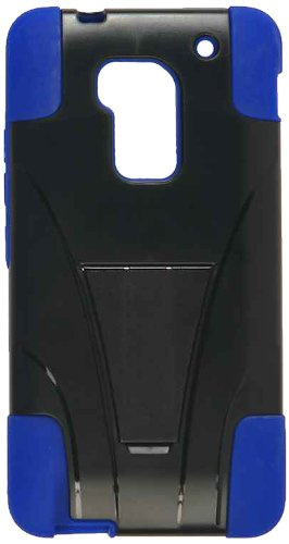 Cell Armor Hybrid Fit-On Jelly Case For Htc One Max - Retail Packaging - Turquoise Skin And Black Snap With Stand