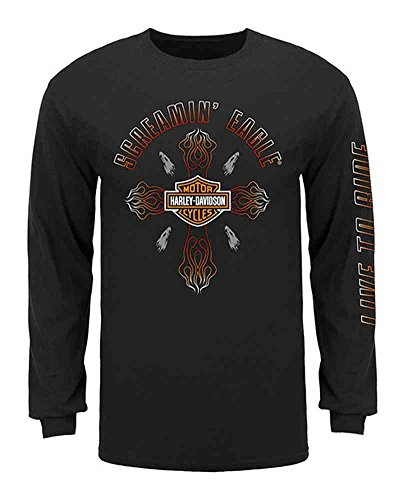Harley-Davidson Men's Screamin' Eagle Flame Long Sleeve Shirt HARLMT0232 (S)