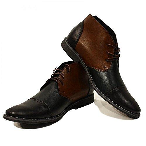 Modello Plinio - 40 UE - fatti a mano scarpe di cuoio italiane Colorful scarpe stivali da uomo Up casual formale Premium Unique Vintage Alti merletto delle