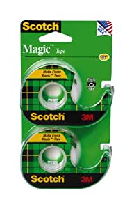 Scotch Magic Tape, 1/2 x 750 Inches 2 pack (1500 in total)