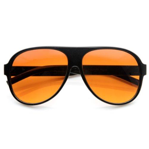zeroUV - Retro 80s Tear Drop Plastic Aviator Sunglasses