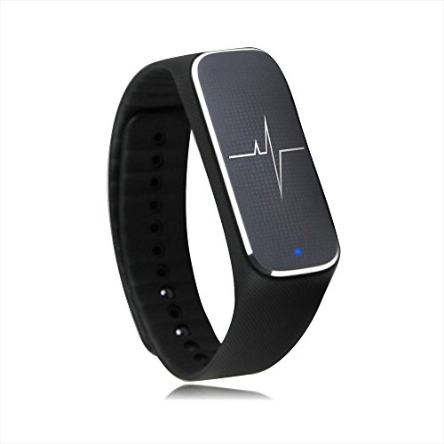 Docooler® Smart Bracelet Sport Activity Fitness Tracker Pedometer Wristband Heart Rate Blood Pressure Emotional Status Fatigue Level Bluetooth 4.0 for iOS Android APP Control Incomm L18
