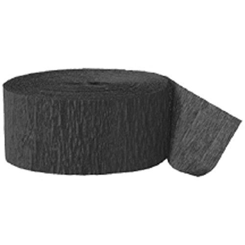 Crepe Paper Streamer, 81' roll. BLACK