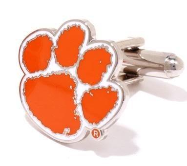 Clemson University Tigers Cufflinks - NCAA College Athletics Sports Themed Formal Wear