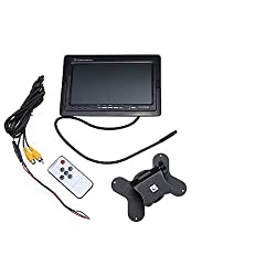AGPtek&reg; 7 Inch TFT Adjustable LCD Backlight Color Screen Rearview Monitor For Car With IR Remote + Bracket