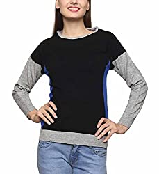 Leebonee Women's Acrylic Full Sleeve Light Grey Mixture Sweater