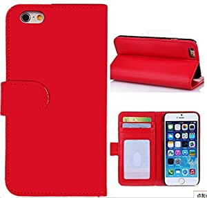 6S Plus Case,iPhone 6S Plus Case,iPhone 6S Plus Leather Case,Flipcase iPhone 6S Plus [Red] PU Leather Wallet With Card Slots Stand Case Cover for iPhone 6S/6 Plus 5.5 inch