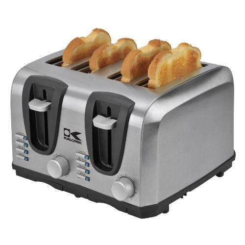 Kalorik Stainless Steel Toaster, 4-Slice