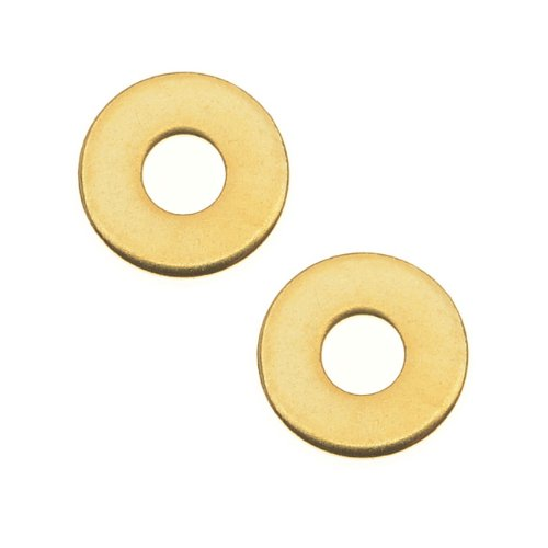 22K Gold Plated Brass Micro Washer For Jewelry 6mm - Pack Of 10 (Brass Washers For Jewelry compare prices)