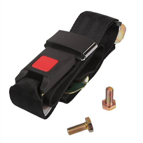 Generic Black Adjustable Car Truck Two Point Seat Belt Seatbelt Lap Belt Safety front-782528