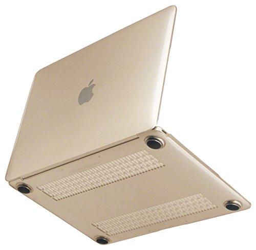 [NEXARY] MacBook Retina 12 インチ (Early 2015 New MacBook) 薄型・軽量 クリスタル ハードケース / デュアルマイク 対応、金型跡無し、丈夫なゴム足、ACアダプタポーチ セット (透明 M12 クリア)