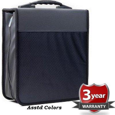 iLogic 360 Capacity Quality Compact Disc CD DVD Blu-Ray Nylon Media Wallet Folder Black