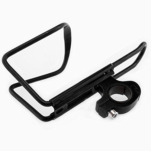 TrendBox Alloy Bicycle Bike Water Bottle Cage For Sports Drinking Racing Outdoor Mountain Hiking Lightweight Easy to install - Black