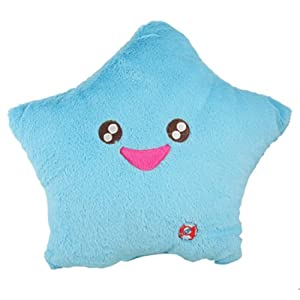 Amico Aqua Color Smile Star LED Light Lamp Throw Toss Cushion Pillow