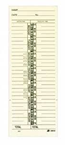 "Adams Time Cards, Weekly, 1-Sided, Named Days, 3-3/8"" x 9"", Manila, Green Print, 200-Count (9659-200)"