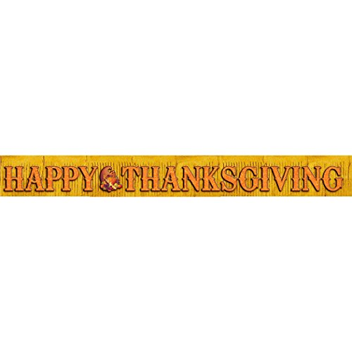 Glitter Thanksgiving Fringe Banner- 10ft by CoolGlow