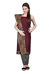 Aryahi Women's Cotton Dress Material (70424_Burgundy)