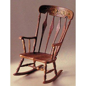 Dollhouse M-530 ARROWBACK ROCKER MINIKIT, BROWN - 1